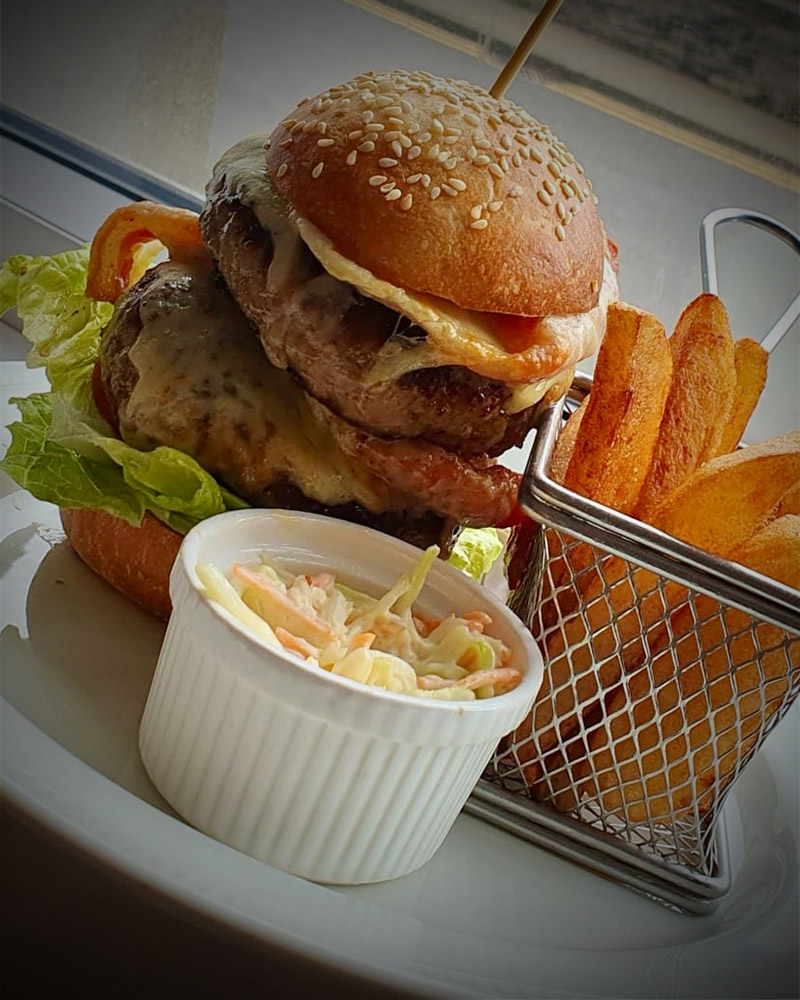 Burger and chips at No 1 Bistro in Wick