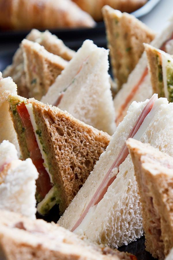 A platter of sandwiches