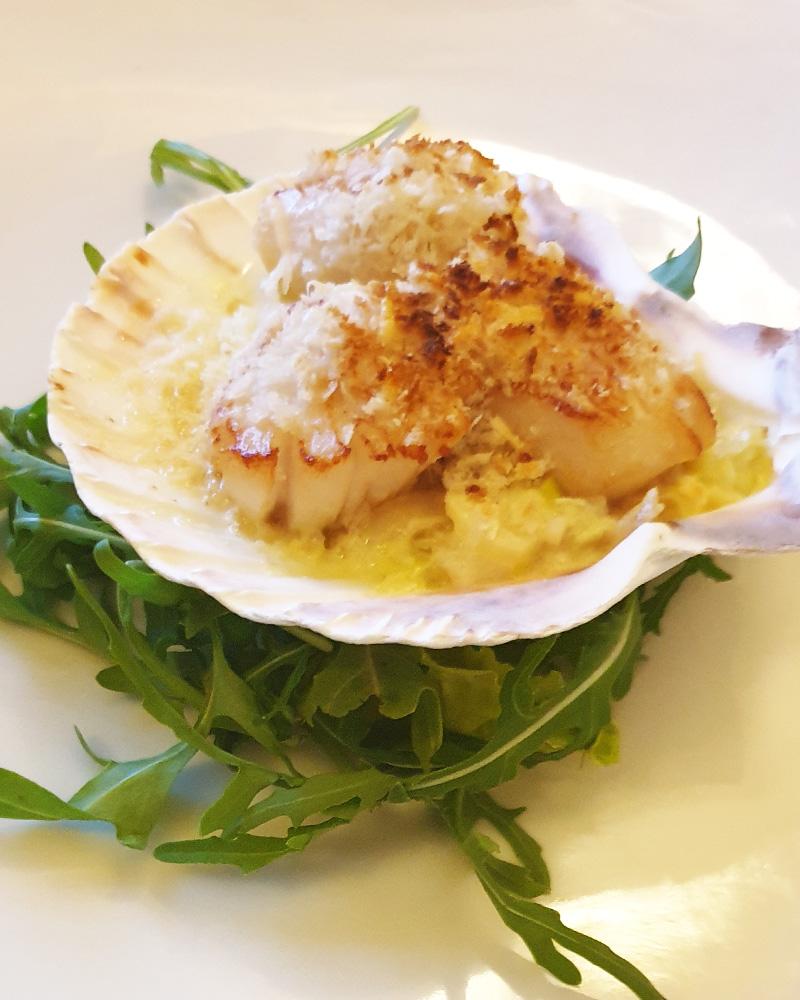 A scallop dish in No 1 Bistro in Wick
